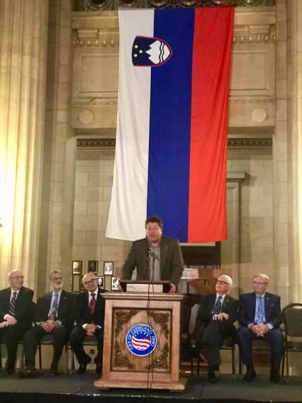 Professor Plecnik speaking at Slovenian Independence 2019